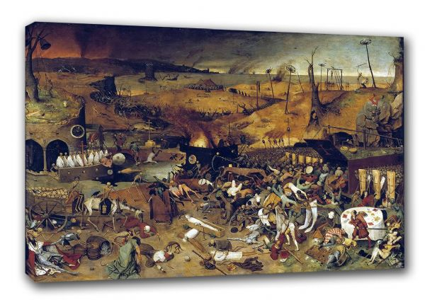 Bruegel the Elder, Pieter: The Triumph of Death. Fine Art Canvas. Sizes: A3/A2/A1 (00239)